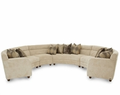 AICO 4pc Sectional Set Cloche AI-108SEC4PC-TAUPE-32