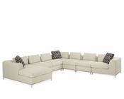 AICO 7pc Sectional Set Beverly Blvd AI-0684SEC-CREAM-13