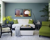 AICO After Eight Living Room Set in Green AI-19815GREEN-Set