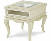 AICO After Eight End Table in Pearl Croc AI-19202-12