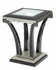 AICO After Eight Chair Side Table in Titanium AI-19222-16