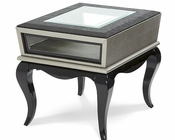 AICO After Eight End Table in Titanium AI-19202-16