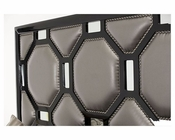 AICO After Eight Upholstered Headboard in Black Onyx AI-19000HB-CP