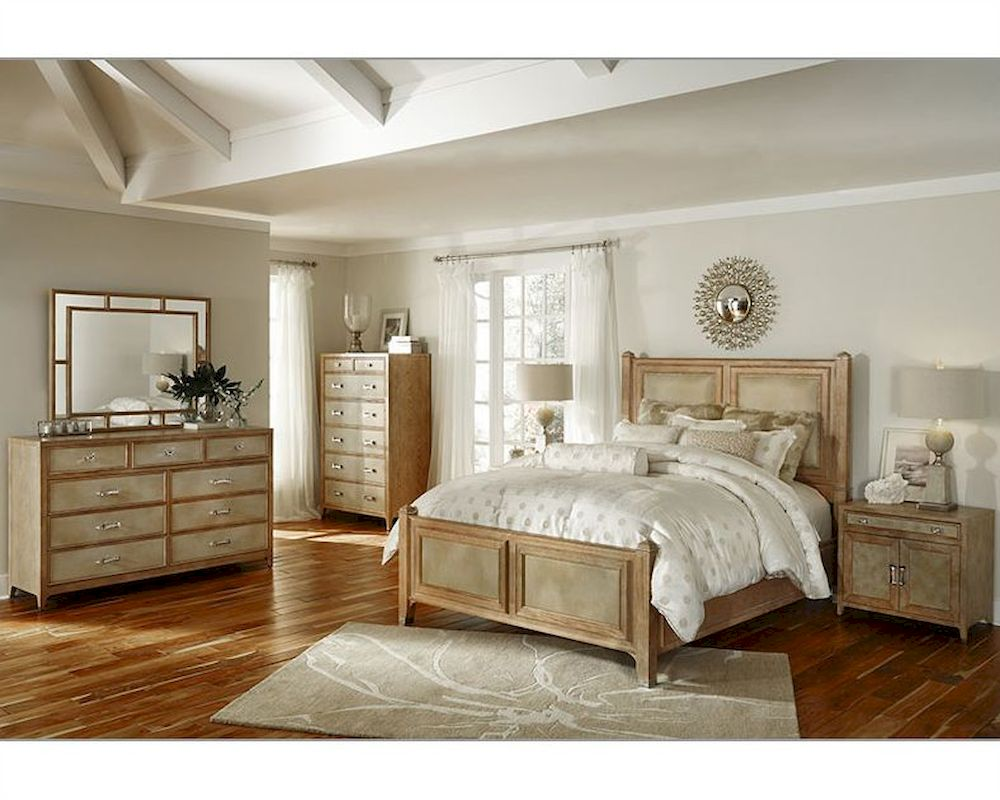 AICO Bedroom Set Biscayne West In Sand Color AI 80010 102SET