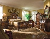 AICO Bedroom Set Palais Royale in Rococo Cognac AI-710-35