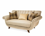 AICO Chanel Back Loveseat Cloche AI-10825-PLTNM-32