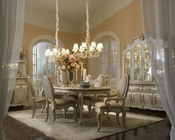 AICO Dining Set Lavelle in Blanc AI-54000-04s