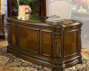 AICO Executive Desk Windsor Court in Honey Walnut AI-70207