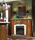 Aico Furniture Cortina Fireplace in Honey Walnut AI-N65220-28