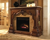Aico Furniture Tuscano Fireplace with Marble Top and Base AI-34220-26N