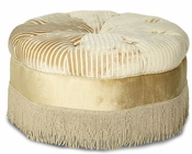 AICO Imperial Court Round Cocktail Ottoman AI-79879-PEARL-00