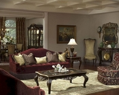 AICO Imperial Court Sofa Set in Eggplant AI-79815-EGPLT-Set