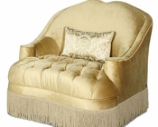 AICO Imperial Court Tufted Chair & a Half in Pearl AI-79838-PEARL-00