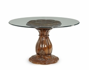 AICO Lavelle Melange 54in Round Glass Top Dining Table AI-54001-101-34