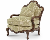 AICO Lavelle Melange Bergere Wood Chair in Celery AI-54835-CELRY-34
