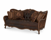 AICO Lavelle Melange Wood Trim Tufted Sofa AI-54915-CHOCO-34