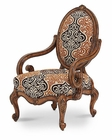 AICO Lavelle Melange Oval Back Wood Chair AI-54834-BRGLD-34