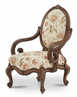AICO Lavelle Melange Oval Back Wood Chair in Spring AI-54834-SPRNG-34