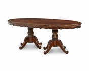 AICO Lavelle Melange Oval Pedestal Dining Table AI-54302-34