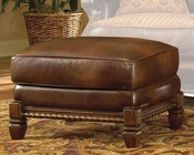 AICO Leather Chair Ottoman Windsor Court AI-70975-BROWN-54