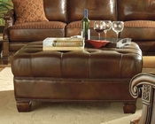 AICO Leather Cocktail Ottoman Windsor Court AI-70979-BROWN-54