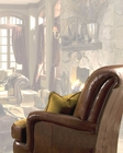 AICO Leather / Fabric Club Chair Tuscano AI-34935-BROWN-26