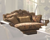 AICO Leather / Fabric Loveseat Sedgewicke AI-35925-SPICE-37