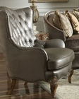 AICO Leather Wing Chair Venetian ll AI-68936-PEWTR-28