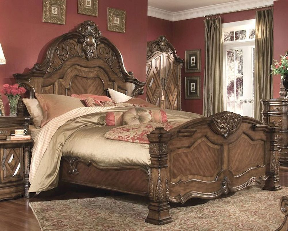 Mansion Bedroom Furniture Aico Mansion Bed Windsor Court In Vintage Fruitwood Ai 700 1 54