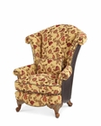 Aico Oppulente Leather / Fabric Wing Chair AI-67936-CAMEL-52