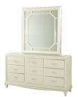 AICO After Eight Upholstered Dresser w/ Mirror in (2pc) AI-19050-60-12