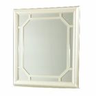 AICO After Eight Upholstered Dresser Mirror in Pearl Croc AI-19060-08