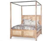 AICO Canopy Bed Biscayne West in Sand Color AI-80100-102BED