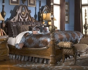 AICO Poster Bed Sovereign in Soft Mink AI-570-1-51
