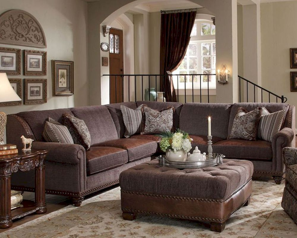 AICO Sectional Living Room Set Monte Carlo II AI