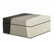 AICO Square Storage Ottoman Beverly Blvd AI-06878-MULTI-00