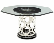 AICO After Eight 60in Glass Top Dining Table AI-19001-101-16