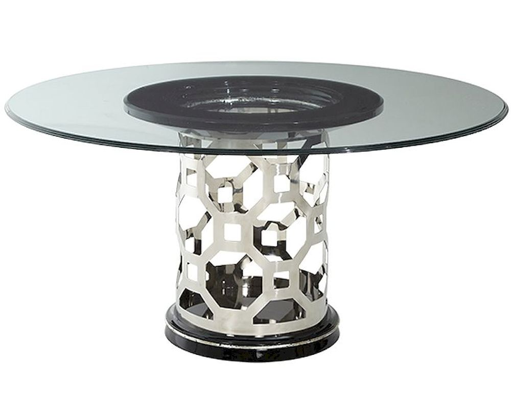 AICO After Eight 60in Round Glass Top Dining Table AI  : aico titanium 60in round glass top dining table ai 19001 gl60te 16 18 from www.homefurnituremart.com size 1000 x 800 jpeg 78kB