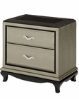 AICO After Eight NightStand in Titanium AI-19040-16