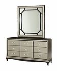 AICO After Eight Upholstered Dresser w/ Mirror (2pc) AI-19050-60-16