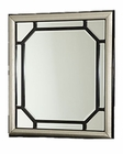 AICO After Eight Upholstered Dresser Mirror in Titanium AI-19060-88
