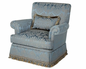 AICO Upholstered Chair Venetian ll AI-68835-PEACK-28