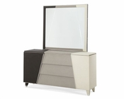 AICO Upholstered Dresser and Bedroom Mirror Beverly Blvd AI-0605060