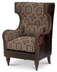 AICO Victoria Palace Wing Chair - Brown AI-61936-MULTI-29
