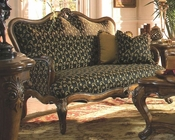 AICO Wood Trim Settee Palais Royale AI-71864-BLACK-35