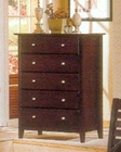 Alpine 5 Drawer Chest in Dark Cherry Portola ALPB-05DCM