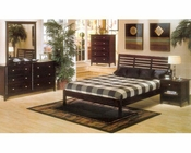 Alpine Bedroom Set in Dark Cherry Portola ALPB-11DCSET