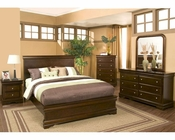 Alpine Panel Bedroom Set in Cappuccino Chesapeake AL3206SET
