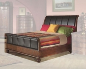 Alpine Queen Sleigh Bed Lafayette AL351BED