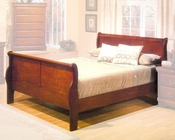 Alpine Sleigh Bed Louis Philippe 1 AL3700BED